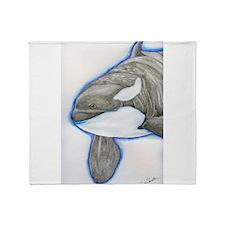 Orca Killer Whale Wildlife Throw Blanket