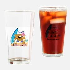 Layla Luau Beach Bullie Drinking Glass