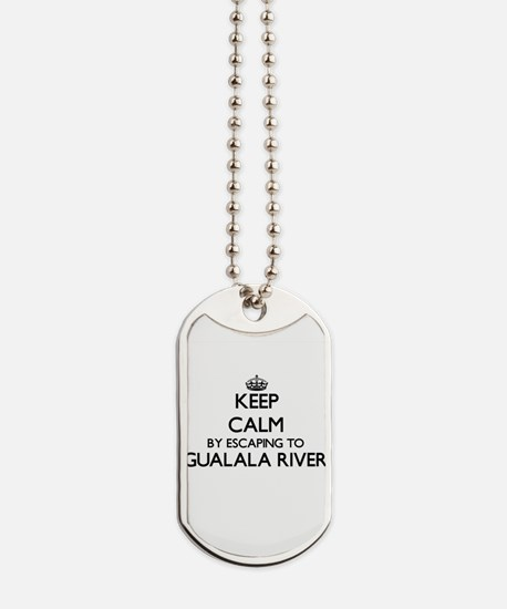 Keep calm by escaping to Gualala River Ca Dog Tags