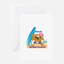 Layla Luau Beach Bullie Greeting Cards