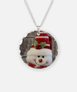 Funny Snowman Necklace