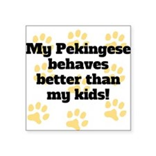 My Parson Russell Terrier Behaves Better Sticker