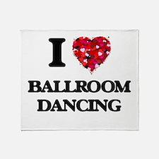 I love Ballroom Dancing Throw Blanket