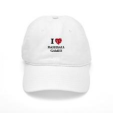 I love Baseball Games Baseball Cap
