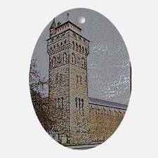 Cardiff Clock Tower - pencil 6:9 - Ornament (Oval)