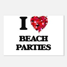I love Beach Parties Postcards (Package of 8)