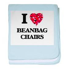 I love Beanbag Chairs baby blanket
