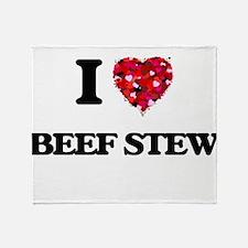 I love Beef Stew Throw Blanket