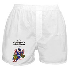 Merry Police Christmas Boxer Shorts