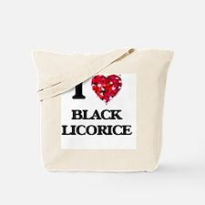 I love Black Licorice Tote Bag