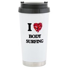 I love Body Surfing Thermos Mug