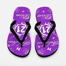 21st Birthday Fabulous Flip Flops