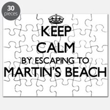 Keep calm by escaping to Martin'S Beach Cal Puzzle