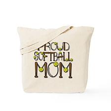 Proud Softball Mom Tote Bag