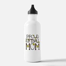 Proud Softball Mom Water Bottle