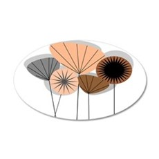 Mid-Century Modern Floral Wall Decal