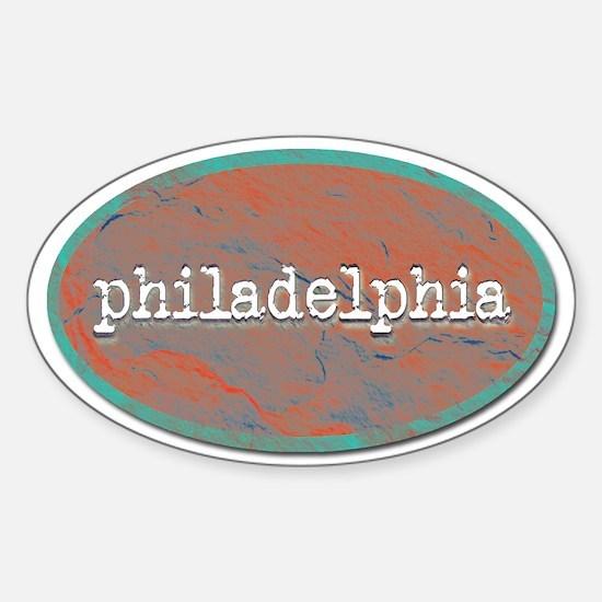 Philadelphia rustic teal Decal
