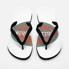 Philadelphia rustic teal Flip Flops