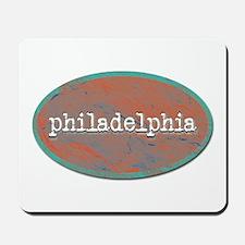 Philadelphia rustic teal Mousepad