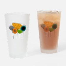 Mid-Century Modern Floral Drinking Glass