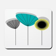 Mid-Century Modern Floral Mousepad