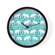 Cute Blue elephant Wall Clock