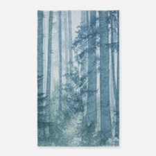 Blue Misty Forest Area Rug