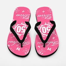 50th Birthday Fabulous Flip Flops