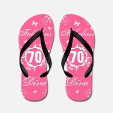70th Birthday Fabulous Flip Flops
