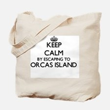 Keep calm by escaping to Orcas Island Was Tote Bag