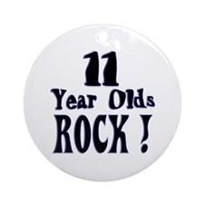 11 Year Olds Rock ! Ornament (Round)