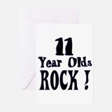 11 Year Olds Rock ! Greeting Cards (Pk of 10)