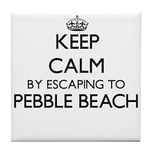 Keep calm by escaping to Pebble Beach Tile Coaster