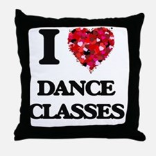 I love Dance Classes Throw Pillow