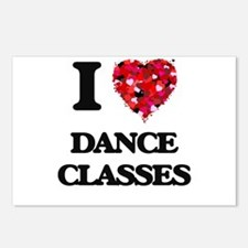I love Dance Classes Postcards (Package of 8)