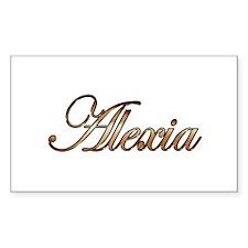 Gold Alexia Decal