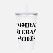 Combat Veteran's Wife Acrylic Double-wall Tumbler