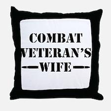 Combat Veteran's Wife Throw Pillow