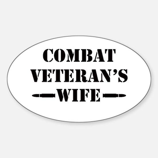 Combat Veteran's Wife Sticker (Oval)