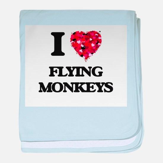 I love Flying Monkeys baby blanket