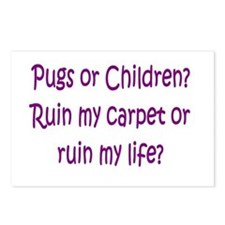 Pugs or Children? Postcards (Package of 8)