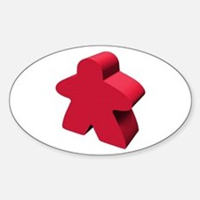 """Red Meeple Square Decal 3"""" X 3&quot Decal"""