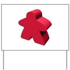 Red Meeple Yard Sign