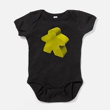 Yellow Meeple Baby Bodysuit
