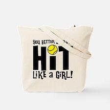 Hit Like a Girl (2-sided) Tote Bag