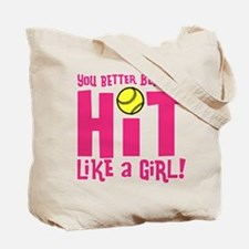 HIT LIKE A GIRL Tote Bag