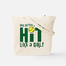 HIT LIKE A GIRL Tote Bag