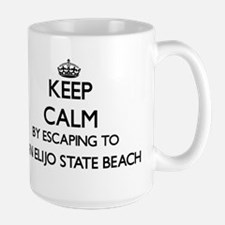 Keep calm by escaping to San Elijo State Beac Mugs