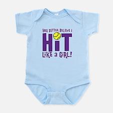 HIT LIKE A GIRL Infant Bodysuit