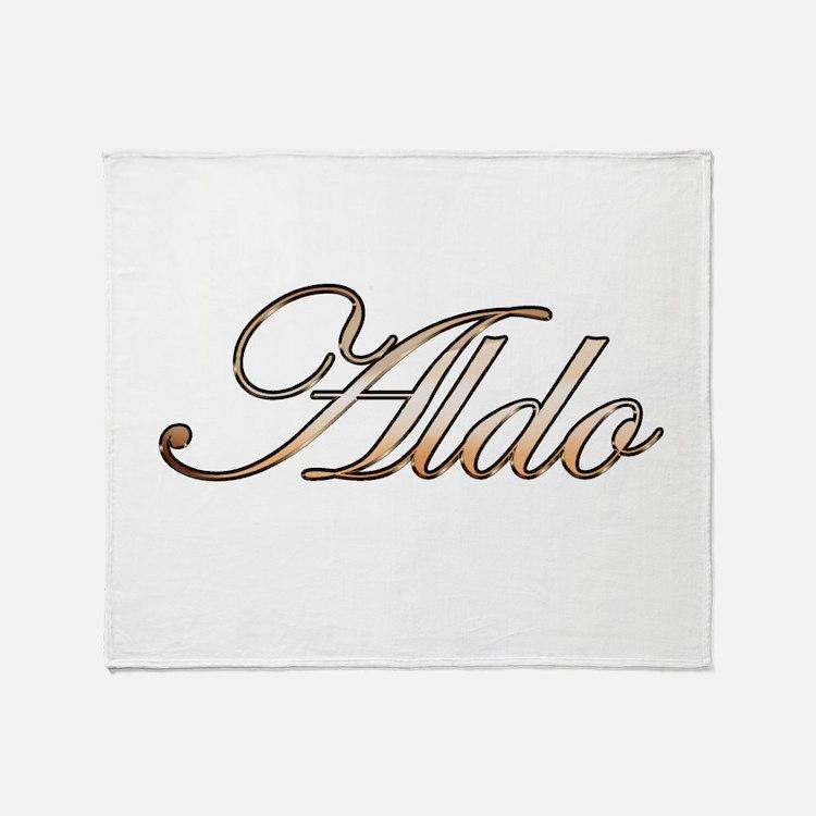 Aldo in Gold Throw Blanket
